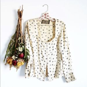 Reformation long sleeve blouse